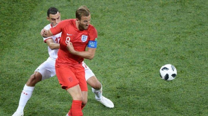 Hasil Inggris Vs Tunisia - Brace Harry Kane Raih Tripoin Perdana Three Lions di Piala Dunia 2018