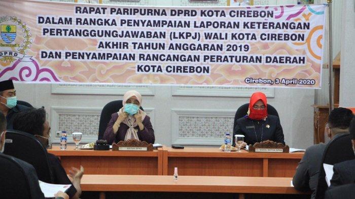 DPRD Terima Penyampaian LKPj Wali Kota Cirebon Tahun Anggaran 2019