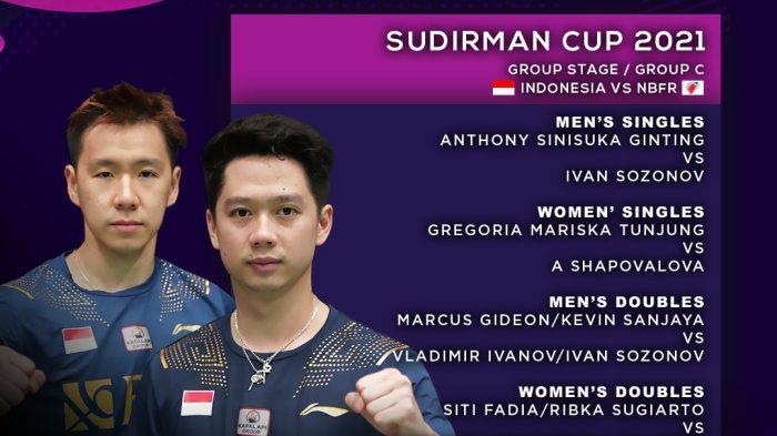 SEDANG TAYANG Tim Bulutangkis Indonesia di Piala Sudirman Lawan NBFR, Indonesia Unggul 2-0