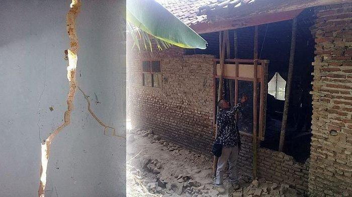 Dinding Tujuh Rumah Warga di Kadupandak Ciamis Retak dan Ambrol, Akibat Suhu Udara Panas Ekstrem