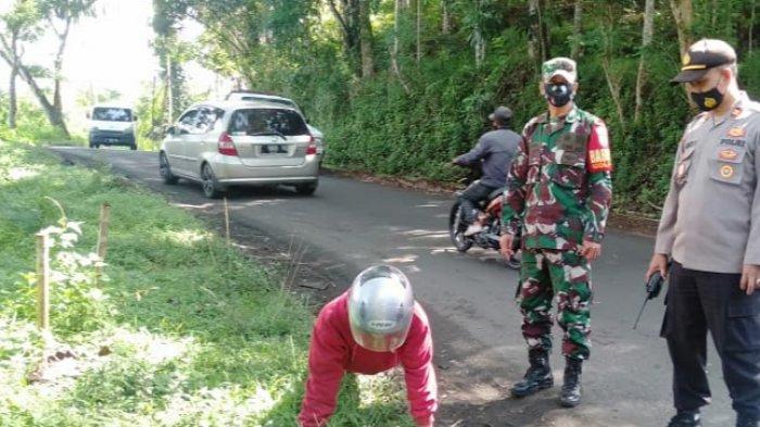 Mengira di Kampung Tak Ada Operasi Yustisi Protokol Kesehatan, Didin Harus Push Up, Tak Pakai Masker