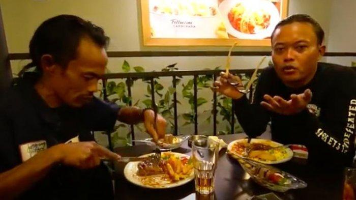 Keseruan Ade Londok Diajak Sule Makan Steak, dari Makan Pakai Tangan Sampai Pujian Sule
