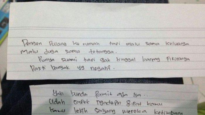 Polisi Temukan Sepucuk Surat yang Ditulis Korban Mutilasi di Karawang, Isinya Begini