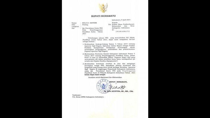 17 ASN di Indramayu Terancam Gagal Ikut Pilkades, Bupati Keluarkan Surat : Belum Dapat Kami Setujui
