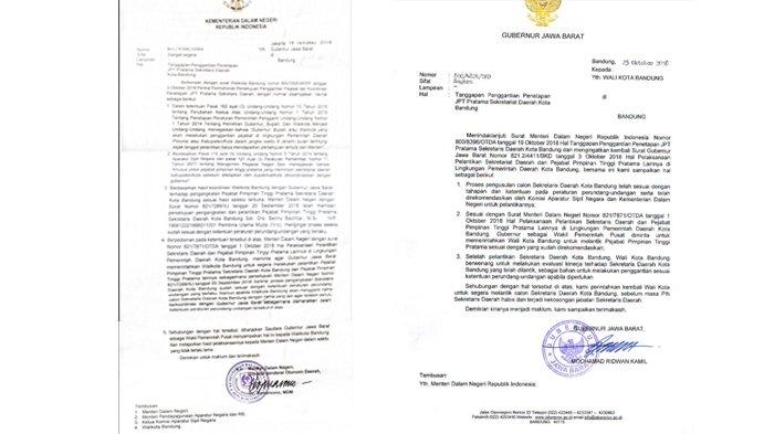 Heboh, Beredar Dua Surat Berbeda dari Kemendagri dan Gubernur Jabar Soal Sekda Kota Bandung