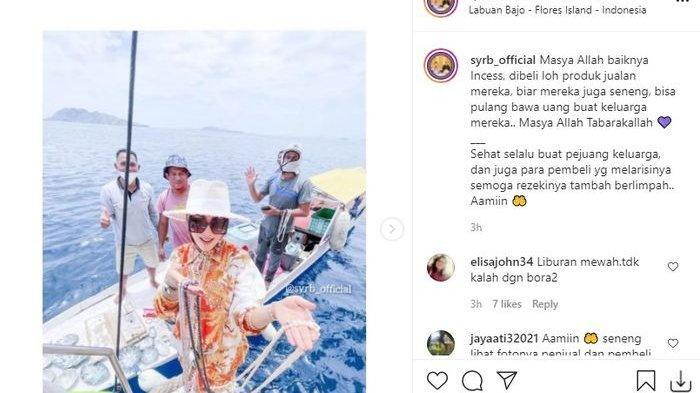 Syahrini Borong Mutiara di Tengah Laut, Penampilan Istri Reino Barack Disorot, Gayanya Cetar Banget