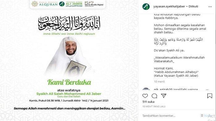 Syekh Ali Jaber Meninggal Dunia, Ini Rekam Jejaknya di Indonesia, Sempat Jadi Korban Penusukan