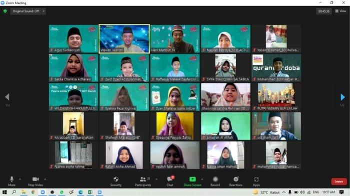 Penerbit Qur`an Cordoba Mengadakan Lomba Tahfiz Virtual Nasional tingkat SD dan SMP