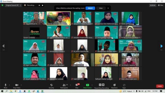 Penerbit Qur`an Cordoba Mengadakan Lomba Tahfiz Virtual Nasional tingkat SD dan SMP ()