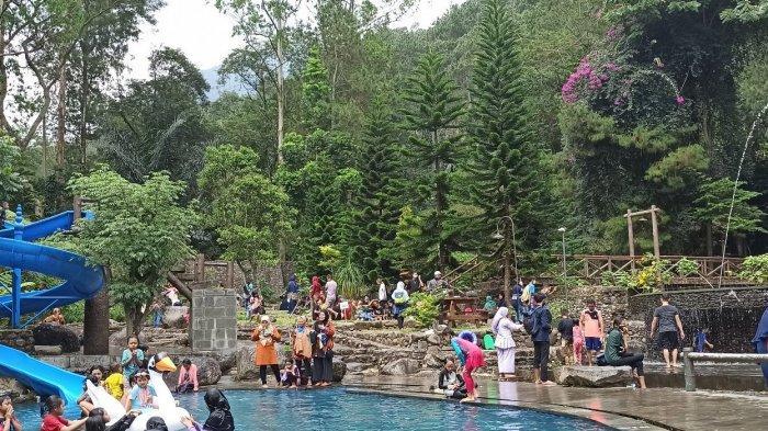 Taman Wisata Bougenville Ramai Saat Libur Lebaran, Hanya Bayar Tiket Masuk, Wisatawan Bisa Berenang