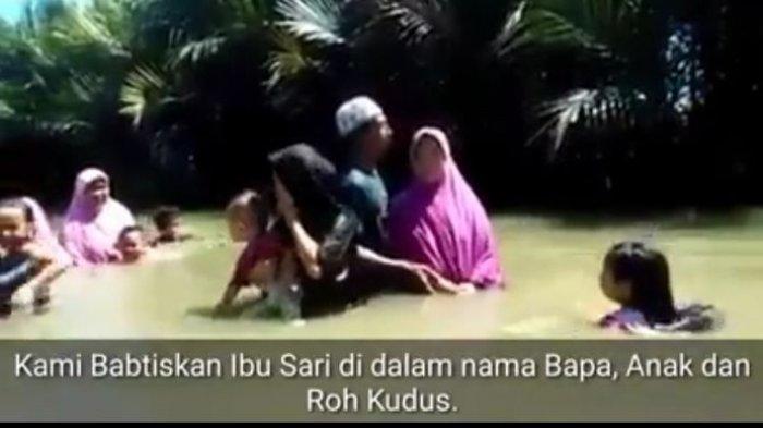 HEBOH Video Pembaptisan Ibu-ibu Berhijab di Cikidang Sukabumi, Camat: Hoaks