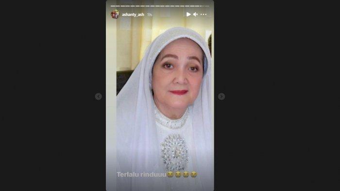 Tangkapan layar postingan story akun Instagram Ashanty.