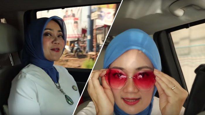 Tingkah Atalia di Vlog Miliknya, Pakai Kacamata Pink hingga Gantungan Baju di Belakang Mobil