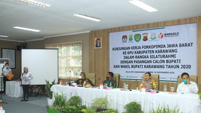 Tanpa Gubernur, Forkopimda Jabar Kunjungi KPU Karawang, Bertemu Paslon Bupati/Wakil Bupati