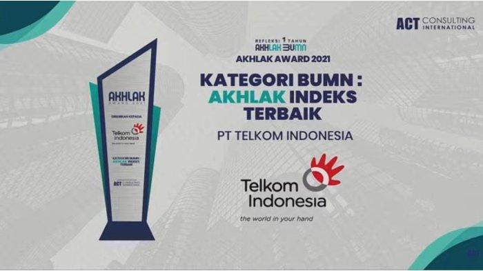 TelkomGroup Jadi Juara Umum dan Borong Penghargaan di Ajang AKHLAK Award 2021