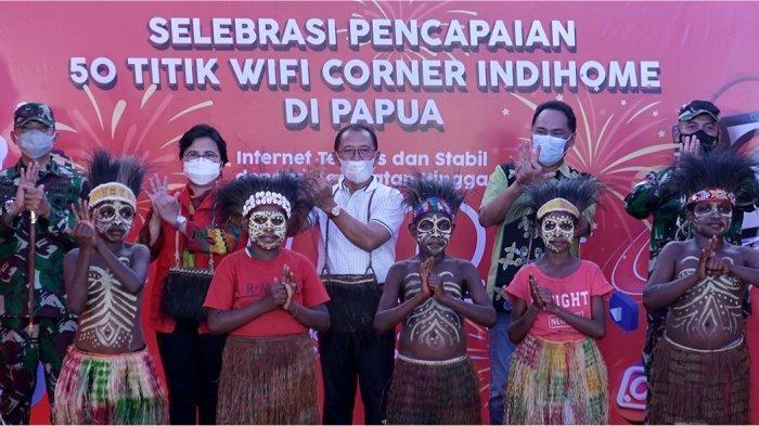 Selebrasi 50 Wifi.id Corner IndiHome di Papua, Telkom Siap Sambut PON XX