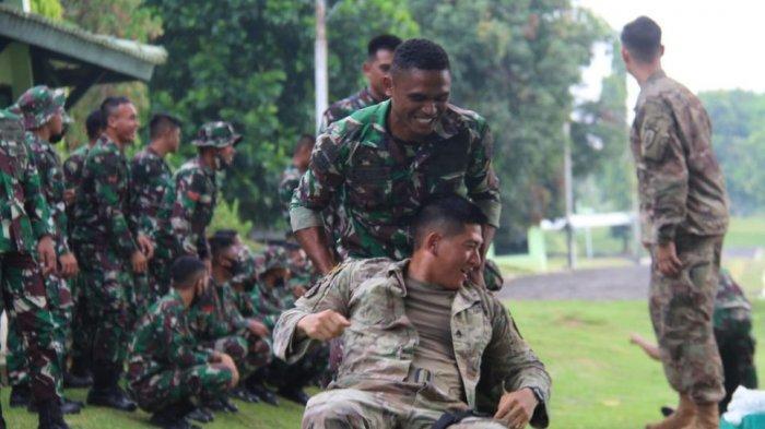 Tentara Amerika Ikut Latihan Bersama Yonif Raider 321/GT Kostrad Majalengka, Berbagi Strategi Tempur