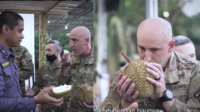 Momen Tentara Amerika Coba Makan Durian, Reaksinya Tak Disangka-sangka, Bikin Anggota TNI Terkejut
