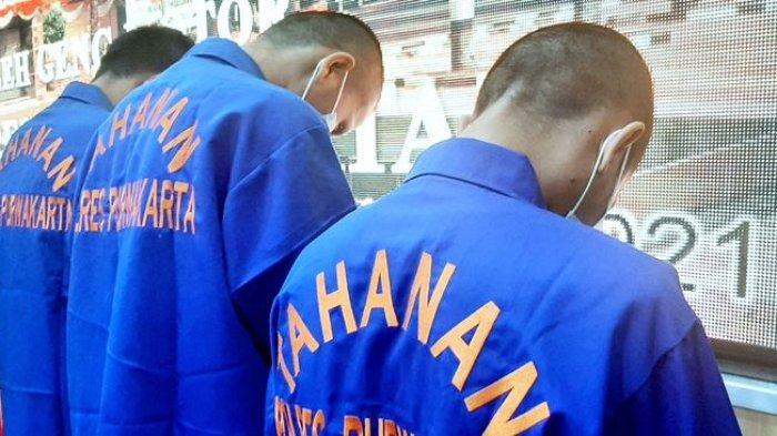 Tiga pelaku penganiayaan yang merupakan anggota komunitas motor diamankan di Purwakarta.