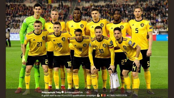 VIDEO-- Bikin Blunder Fatal dalam Laga Belgia vs Rusia, Thibaut Courtois Diejek Eden Hazard