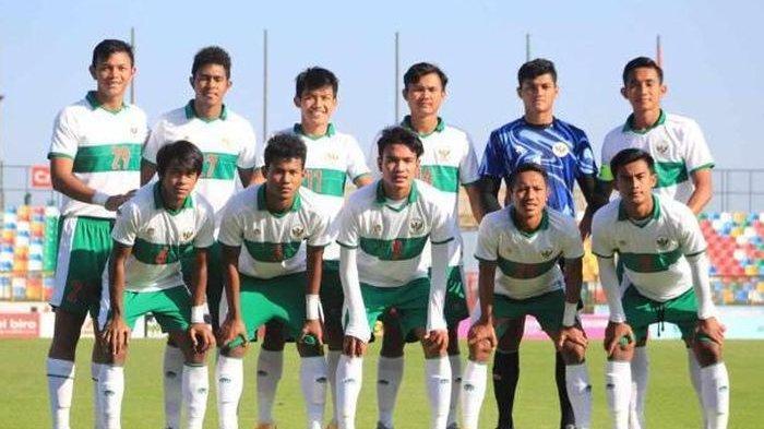 Timnas U-19 Indonesia waktu melawan Qatar