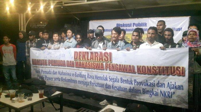 Sejumlah Pemuda dan Mahasiswa Bandung Raya Menolak People Power