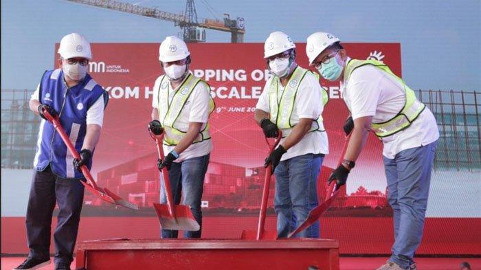 Topping Off Tandai Pembangunan HyperScale Data Center PT Telkom Indonesia Segera Masuk Tahap Akhir