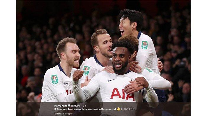 Tumbangkan Arsenal di Stadion Emirates, Tottenham Hotspur Melaju ke Semifinal Piala Liga Inggris