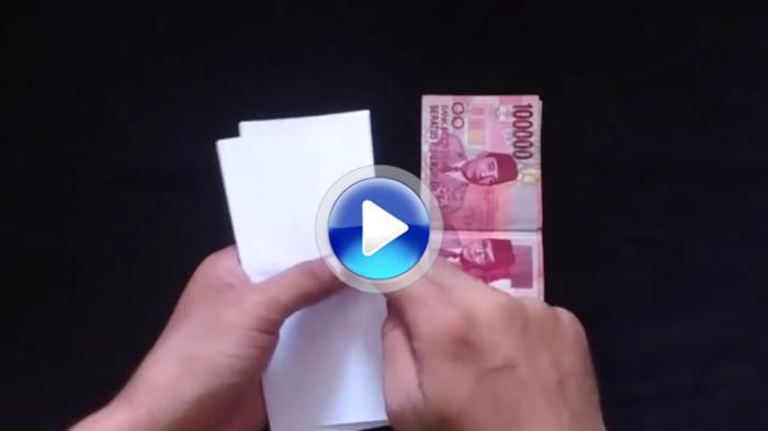 Main Sulap Yuk Lembaran Kertas Jadi Uang Rp 100 000 Tribun Jabar