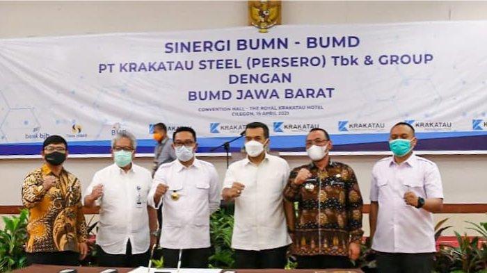 Tumbuhkan Kinerja Bisnis, bank bjb Perkuat Kerjasama dengan Grup Krakatau Steel