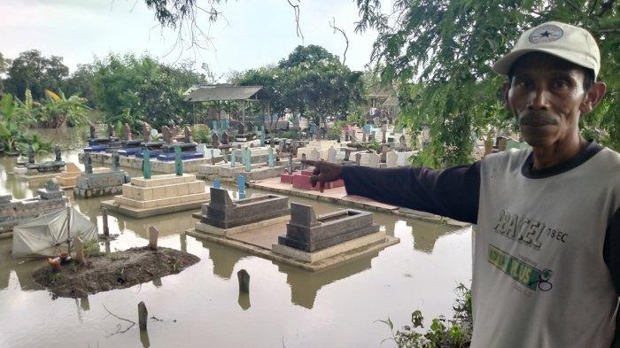 Makam Mengapung di Blok Curug Indramayu, Warga Mengaku Tak Tahu Harus Bagaimana