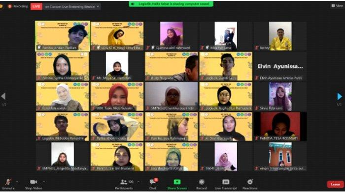 Unjuk Diri Senam virtual yang diikuti oleh peserta webinar