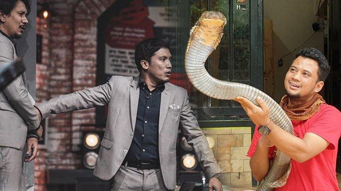 Gertakan Ular King Kobra Garaga Buat Orang-orang di Studio Histeris, Desta dan Vincent Kocar-kacir