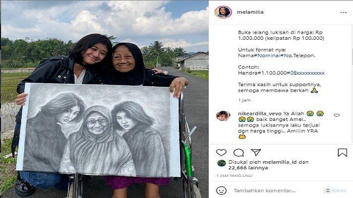 Kabar Terbaru Amel, Gadis Cantik yang Mirip Nike Ardilla, Kini Lelang Lukisan Buat Ibu Nike