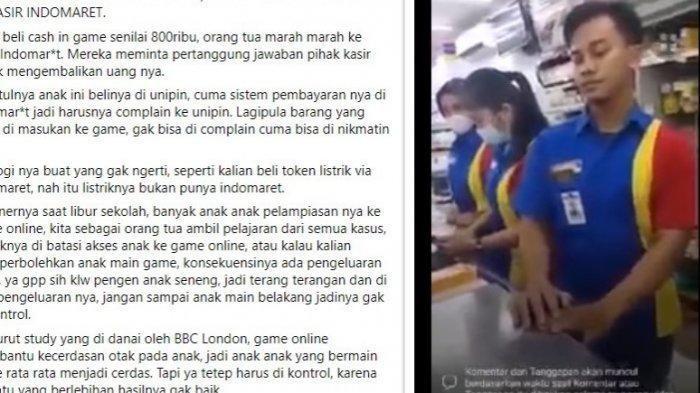 Anaknya Dilayani Top Up Game Rp 800 Ribu, Pria Ini Marah-marah ke Kasir Indomaret, Videonya Viral