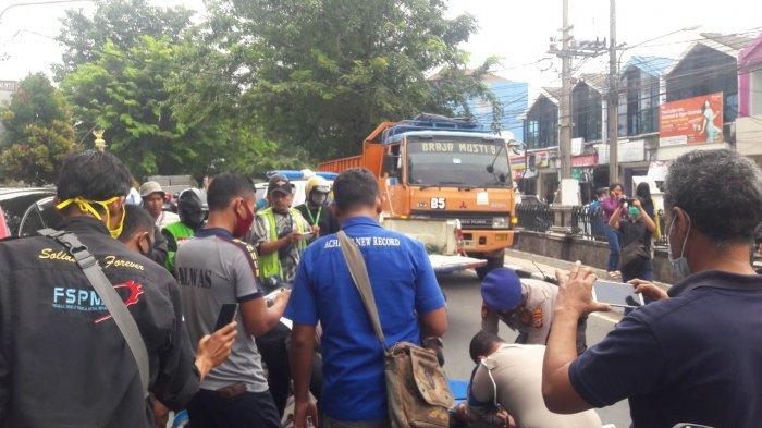 Kecelakaan Maut di Purwakarta, Gagal Menyalip, Pemotor Terlindas Truk, Korban Tewas di Tempat