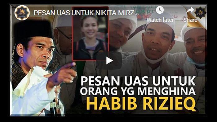 Ustadz Abdul Somad Nangis di Dekat Habib Rizieq, Bahas Soal Jangan Sakiti Keturunan Nabi & Sebut SBY