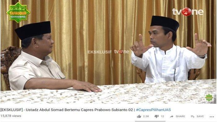 Pengamat Politik Unpar Ini Sebut Pertemuan UAS dan Prabowo akan Tingkatkan Suara Capres-Cawapres 02