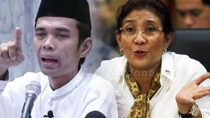 Tak Disangka Ustaz Abdul Somad Malah Balas Pantun Menteri Susi, Reaksi Susi Langsung 'Pecah'