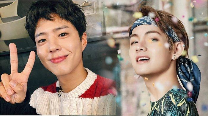 Sebelum Break dari Aktivitas, V BTS Sempat Minum Wine Bareng Park Bo Gum di Busan