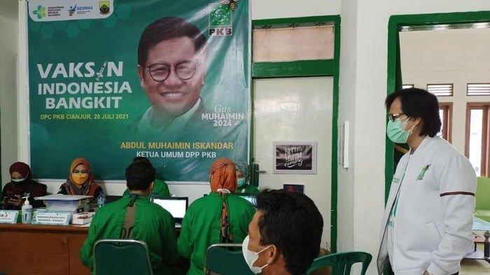 Partai Politik di Cianjur Aktif Bentuk Herd Immunity, Giliran PKB yang Lakukan Vaksin Ratusan Warga