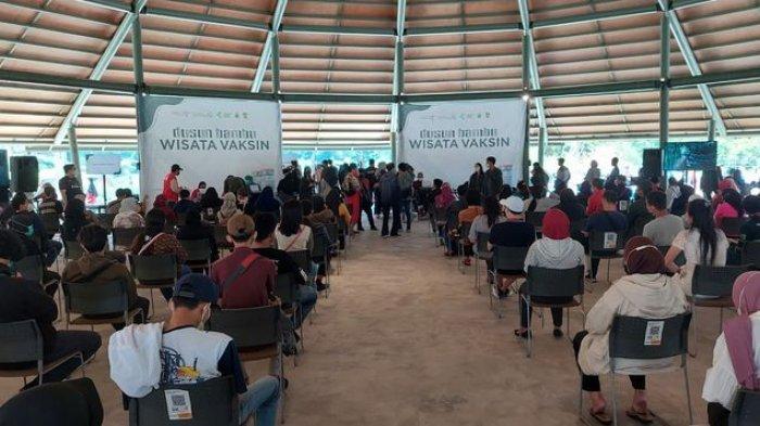 Ribuan Orang Serbu Wisata Vaksin di Dusun Bambu, Peserta Senang Bisa Sekalian Menikmati Udara Segar