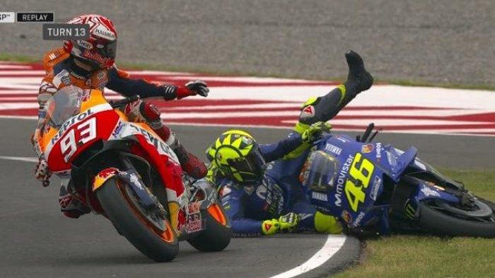 Rossi Tak Bisa Maafkan Marquez karena Masalah Ini, Namun Prihatin Kondisi Pebalap Repsol Honda Itu