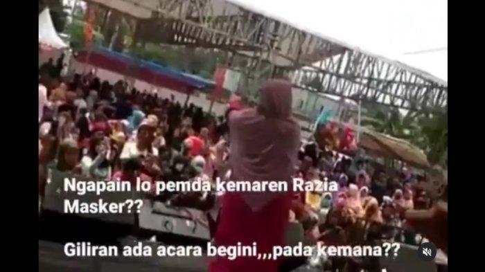 Viral Video Dangdutan di Pengasinan Dipenuhi Warga di Tengah Pandemi, Dihibur Evie Tamala