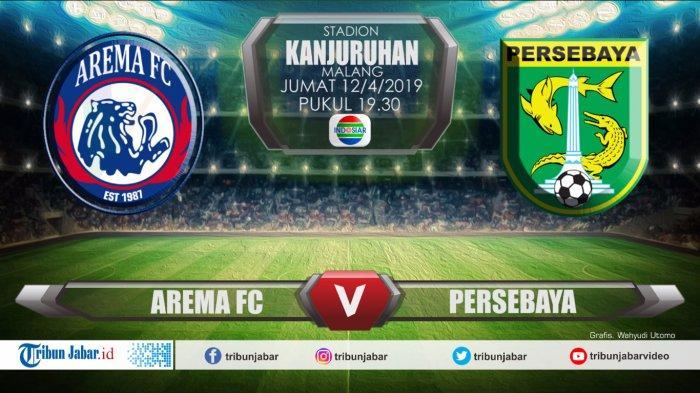Live Streaming Indosiar Arema FC Vs Persebaya Surabaya di final Piala Presiden 2019, Penentu Gelar
