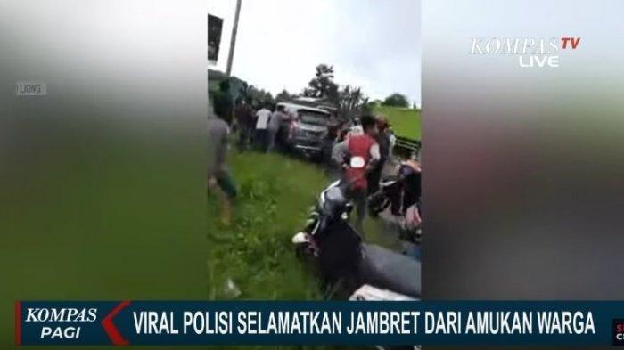 Viral Video Polisi Dibantu Istrinya Selamatkan Jambret dari Amukan Massa, Ia Bahkan Sempat Berlutut