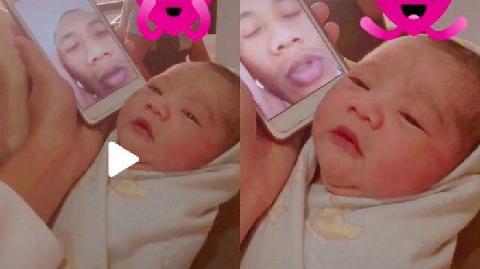 Video Viral, Detik-detik Anggota TNI Azani Anaknya yang Baru Lahir Lewat Video Call Bikin Terharu