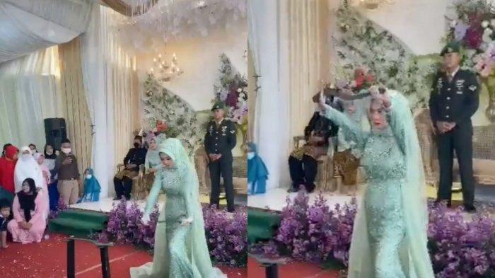 VIRAL di TikTok, Pengantin Bikin Tamunya Terkesima, Beratraksi Debus Patahkan Besi di Pernikahannya