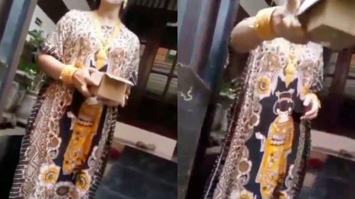 Video Viral, Ibu-ibu Berdaster Bergelimang Emas Tuding Kurir Menipu, Emas yang Dipesannya Palsu