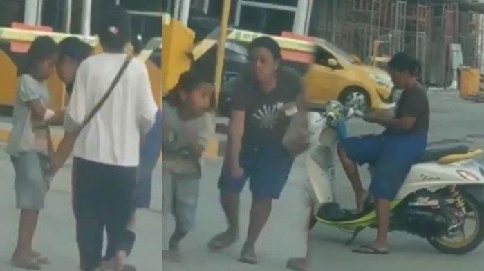 Video Viral, Paksa Anak Ngemis, Seorang Ibu Pukuli Anak Sendiri, Ternyata Uangnya untuk Bayar Arisan